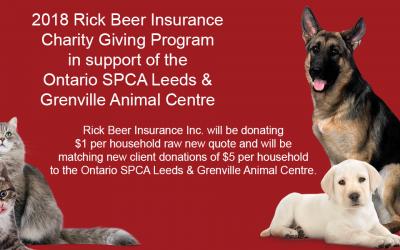 2018 Rick Beer Insurance Charity Giving Program